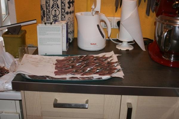 Préparation des filets de sardines