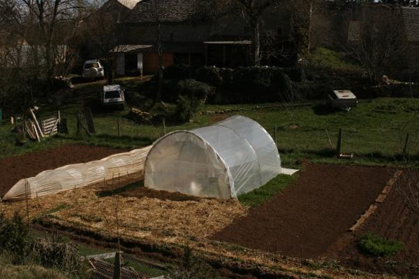 Avril : préparation timide du potager