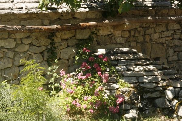 Eclat de soleil sur les pierres de la Grangette