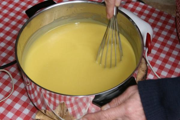 Voilà une belle crème sous le fouet de Caroline